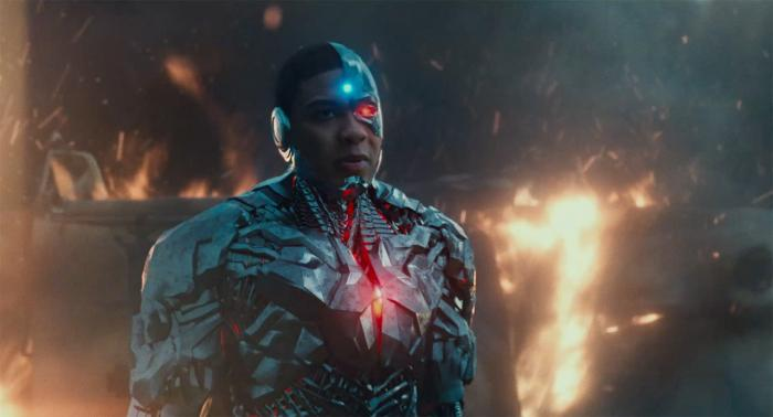 Captura del primer trailer de Justice League (2017), Cyborg
