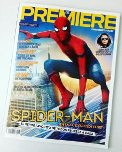 Portada de la revista Premiere dedicada a Spider-Man:Homecoming