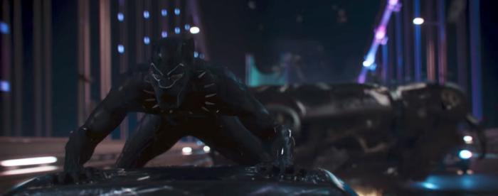 Captura del teaser trailer de Black Panther (2018), T'Challa / Black Panther