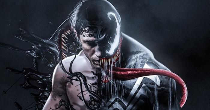 Fan-art de Tom Hardy como Venom