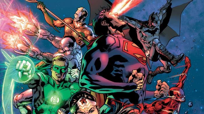 Imagen del cómic Justice League of America #10, de Tom Derenick y Bryan Hitch