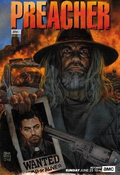 Poster del estreno de la segunda temporada de Preacher (2016 - ?)