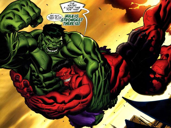 Hulk vs. Red Hulk en los cómics Marvel