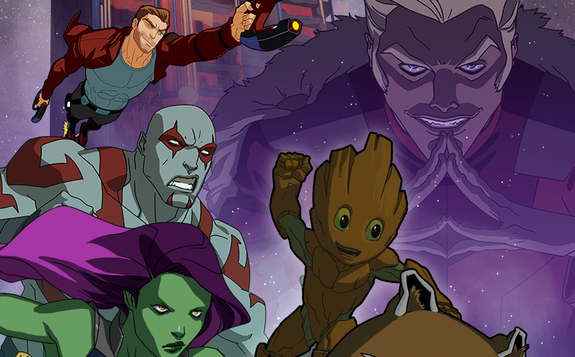 Recorte póster de la tercera temporada de Guardians of the Galaxy