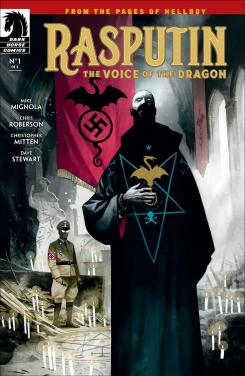 Portada de Rasputin: Voice of the Dragon #1, por Mike Mignola y Mike Huddleston