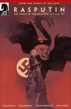 Portada alternativa de Rasputin: Voice of the Dragon #1, por Mike Mignola