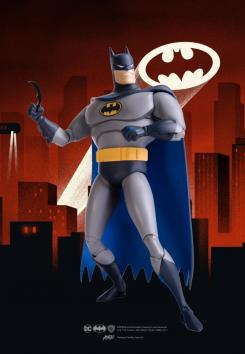 Mondo póster de figura de Batman basada en Batman: The Animated Series