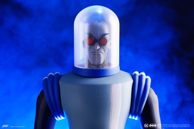 Mondo póster de figura de Mr. Freeze basada en Batman: The Animated Series
