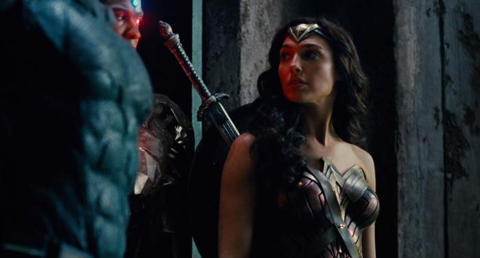 Captura del segundo trailer de Justice League (2017), Wonder Woman