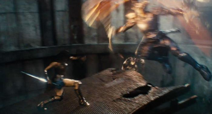 Captura del segundo trailer de Justice League (2017), Wonder Woman y Steppenwolf