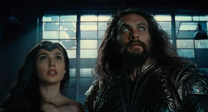 Captura del segundo trailer de Justice League (2017), Wonder Woman y Aquaman