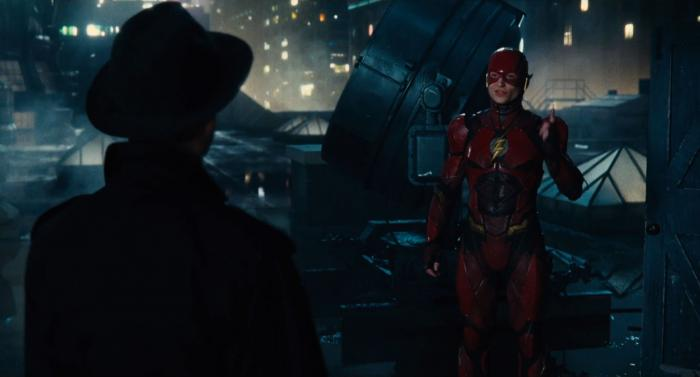Captura del segundo trailer de Justice League (2017), Flash y Gordon