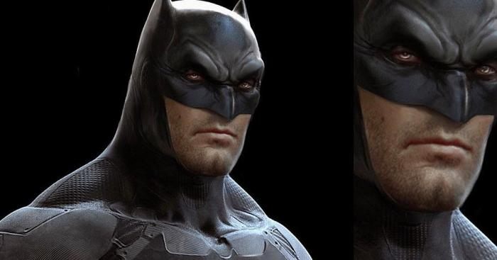 Concept art diseño alternativo de Batman para Batman v Superman, arte por Jerad S.Marantz