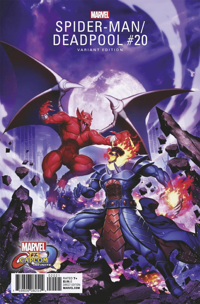 Portada alternativa de Spider-Man / Deadpool #20, con vistazo a Dormammu y Firebrand