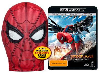 Carátula de la edición 4K Ultra Blu-Ray HD Mask Edition de Spider-Man: Homecoming (2017)