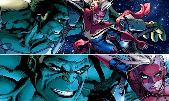 Captain Marvel y Hulk en los cómics Marvel