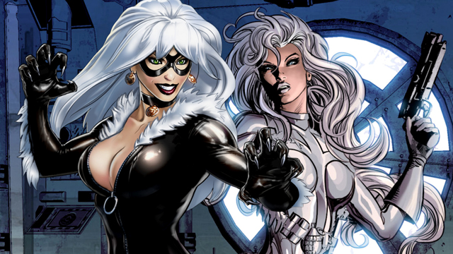 Black Cat y Silver Sable en los cómics
