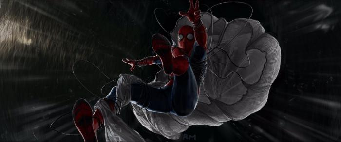 Arte concpetual de Spider-Man: Homecoming (2017), por Ryan Meinerding