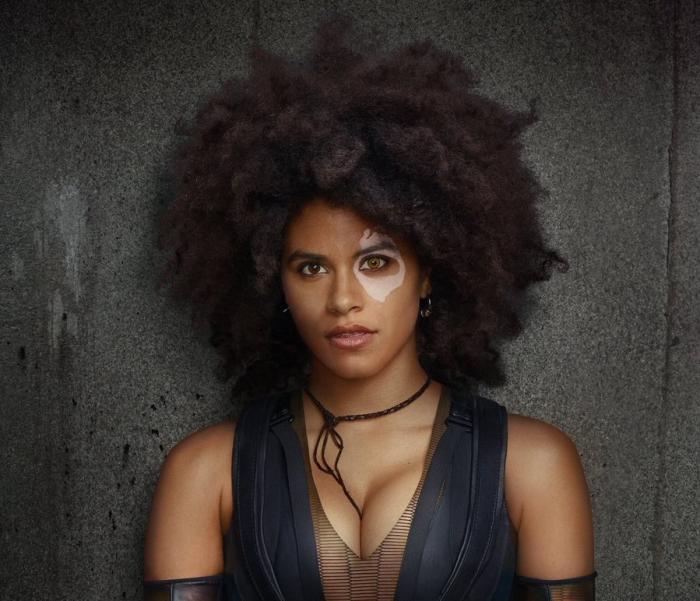 Recorte de imagen promocional de Deadpool 2 (2018), Zazie Beetz como Domino