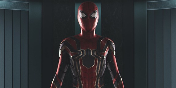 Imagen del traje Iron Spider visto en Spider-Man: Homecoming (2016)