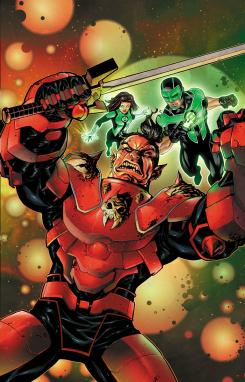 Portada de Green Lanterns #34, por Mike McKone