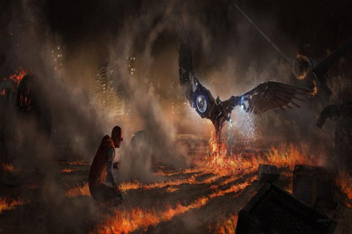 Arte conceptual de Spider-Man: Homecoming (2017), por Henrik Tamm