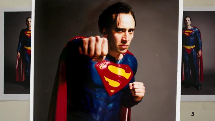 Nicolas Cage con el traje de Superman de Superman Lives