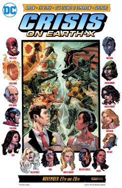 Poster de Crisis on Earth X, el cuarto crossover del arrow-verso, por Phil Jimenez