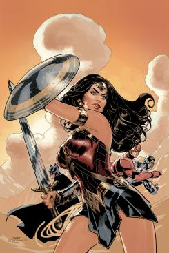 Portada alternativa de Wonder Woman #34, por Terry Dodson