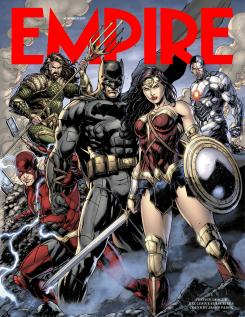 Portada de la revista Empire dedicada a Justice League (2017)