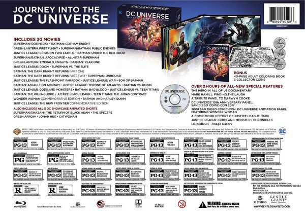 Detalle de DC Universe Original Movies: 10th Anniversary Collection