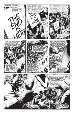 Página de Doomsday Clock #1, por Geoff Johns y Gary Frank