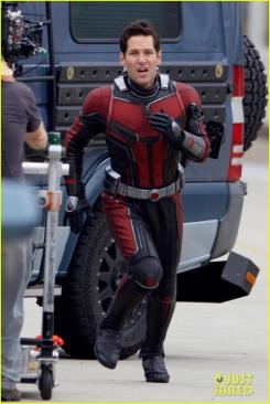 Paul Rudd en el rodaje de Ant-Man and the Wasp (2018)