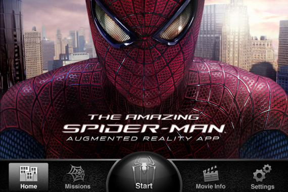 The Amazing Spider-Man Augmented Reality app