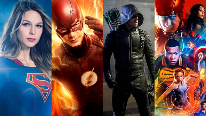 Imagen promocional de las series Supergirl, The Flash, Arrow y Legends of Tomorrow