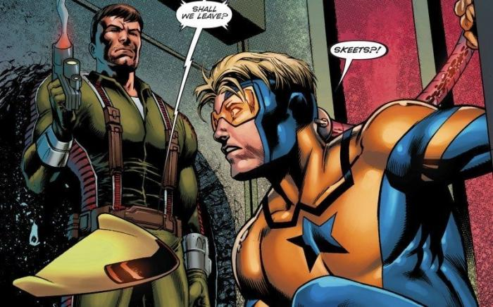 Rip Hunter y Booster Gold en los cómics