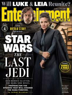 Portada de Entertainment Weekly dedicada a Star Wars: Los ültimos Jedi (2017)
