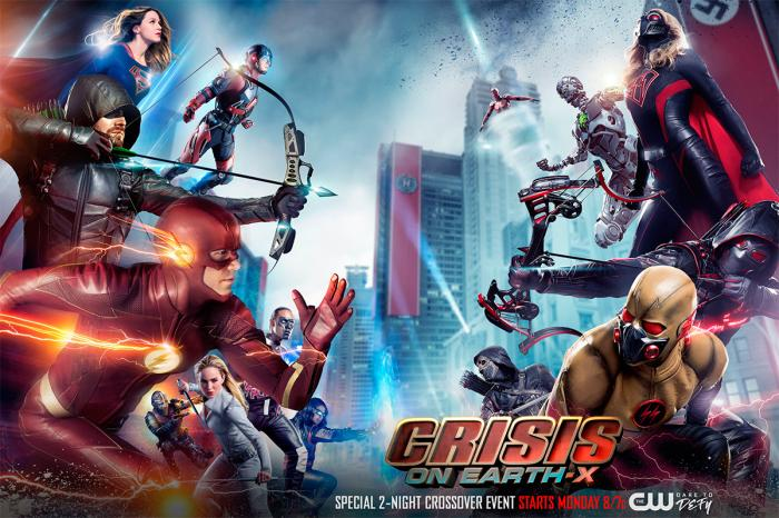 Banner del crossover Crisis on Earth-X