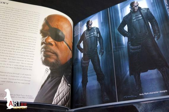 Scan del libro The Art of Marvel's THE AVENGERS
