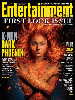 Portada de la revista Entertainment Weekly dedicada a X-Men: Dark Phoenix (2018)