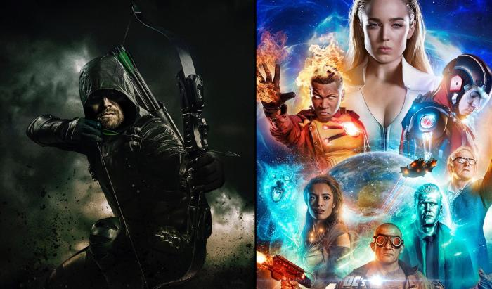 Imagen promocional de sexta temporada de Arrow y la tercera temporada de Legends of Tomorrow