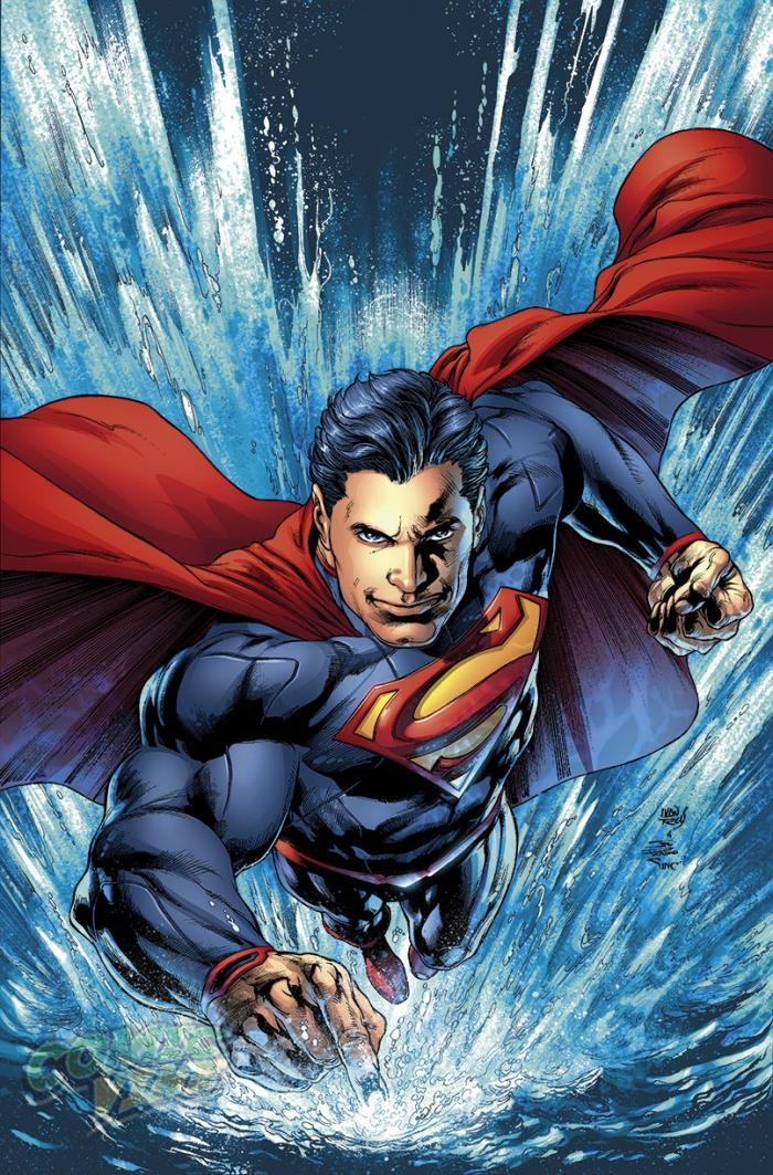 Ilustración de Superman, por Ivan Reis y Joe Prado