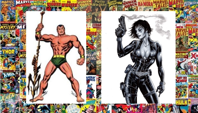New costume for Namor and Domino