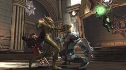 Imagen del DLC La Ultima Risa / The Last Laugh, del juego DC Universe Online. El nuevo arma: el escudo