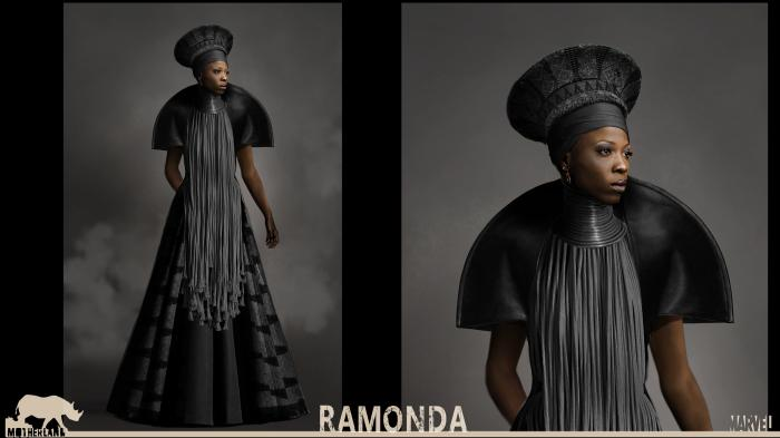 Concept art de Ramonda en Black Panther (2018)