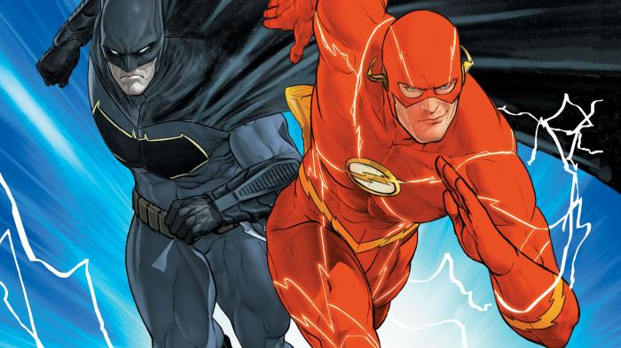 Recorte de portada de Batman / The Flash: La chapa, por Mikel Janin