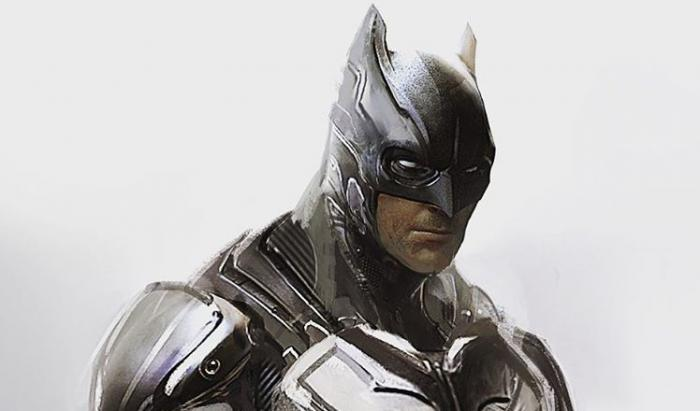 Concept art de Batman por Jerad S. Marantz para Batman v Superman (2016)