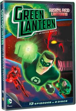 Portada del DVD Green Lantern: Rise of the Red Lanterns