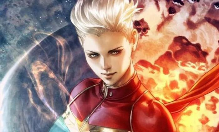 "Recorte portada alternativa de Life of Captain Marvel #1, relanzamiento julio 2018, por Stanley ""Artgerm"" Lau"