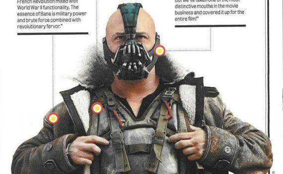 Scan de Bane en The Dark Knight Rises (2012) en la revista Rolling Stones